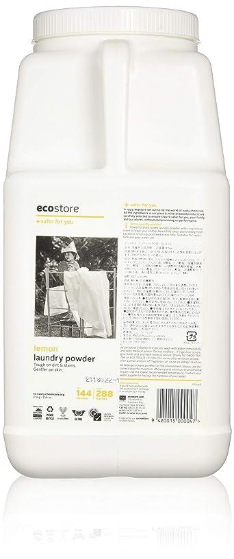 下により感心するecostore エコストア ランドリーパウダー  【レモン】大容量 4.5kg 洗濯用 粉末 洗剤