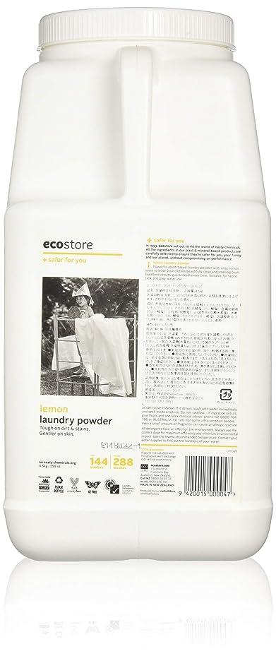 亡命追加する実際ecostore エコストア ランドリーパウダー  【レモン】大容量 4.5kg 洗濯用 粉末 洗剤