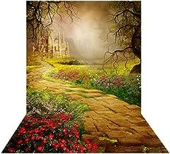 Allenjoy 5x7ft Fairytale Forest Path Backdrop for Studio Portrait Photography Enchanted Magical Wonderland Spring Fairy Landscape Castle Girls Newborn Party Background Photo Shoot Pictures