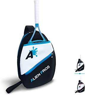 Alien Pros ラケットやその他の必需品用の軽量テニススリングバックパック-テニスをする時や生活の中ですばやく、そして簡単に詰めましょう。男性・女性用テニススリングバックパック