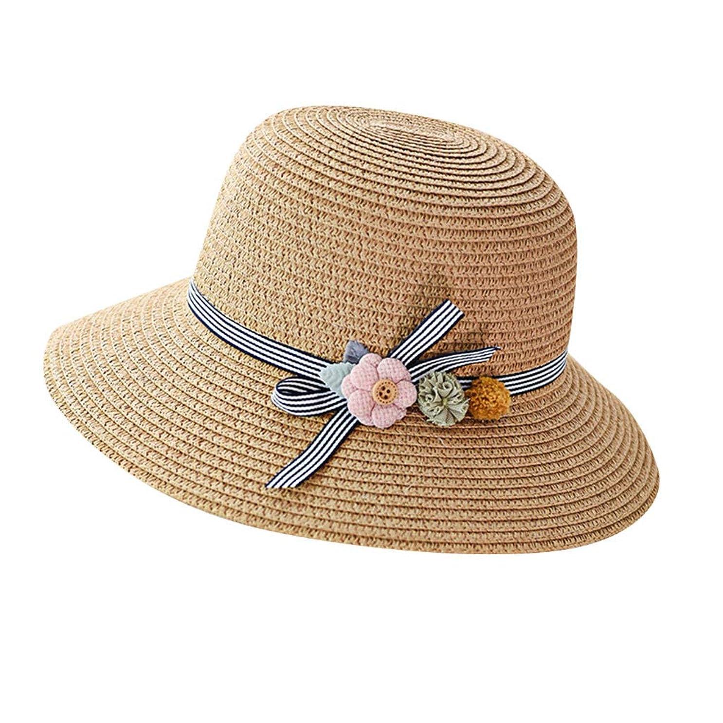 言う書士にぎやか漁師帽 夏 帽子 レディース UVカット 帽子 ハット レディース 紫外線対策 日焼け防止 つば広 日焼け 旅行用 日よけ 夏季 折りたたみ 森ガール ビーチ 海辺 帽子 ハット レディース 花 ROSE ROMAN