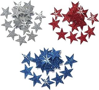 1 Inch US Fabric Glitter Stars Iron on Fabric t Shirt Transfer Patch