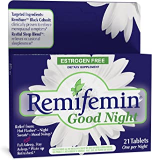 Enzymatic Therapy Remifemin Good Night Estrogen Free One per Night, 21 Count