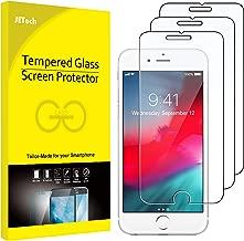 JETech Film de Protection d'écran pour iPhone 8 Plus, iPhone 7 Plus, iPhone 6s Plus et iPhone 6 Plus, Verre Trempé, Lot de 3