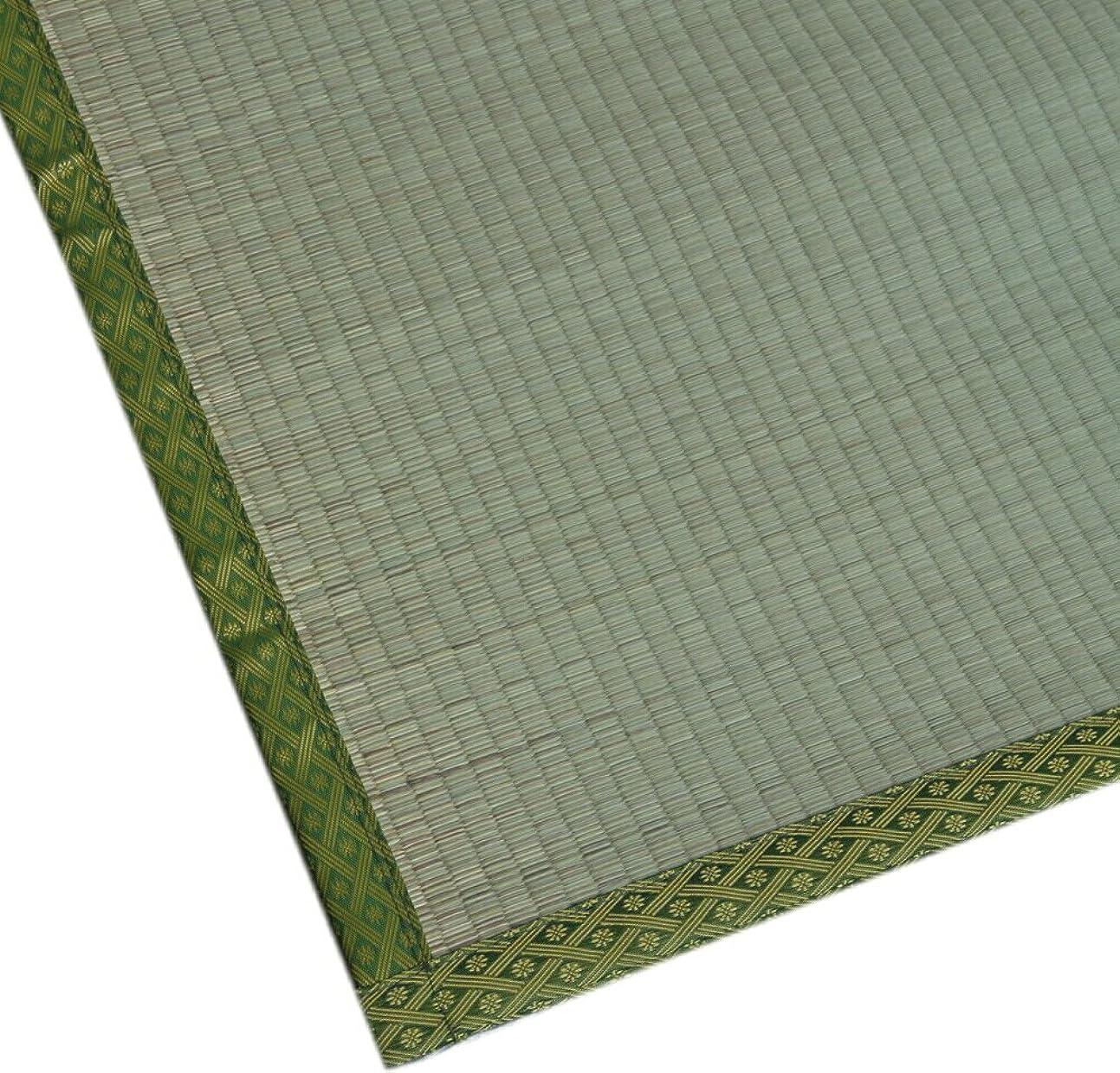 職業散歩うるさい純国産い草上敷 熊本県産い草使用 双目織 「有明」 本間6畳(286x382cm)