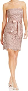 Adrianna Papell Women's Blush Strapless Lace Sheath Party Cocktail Dress 10