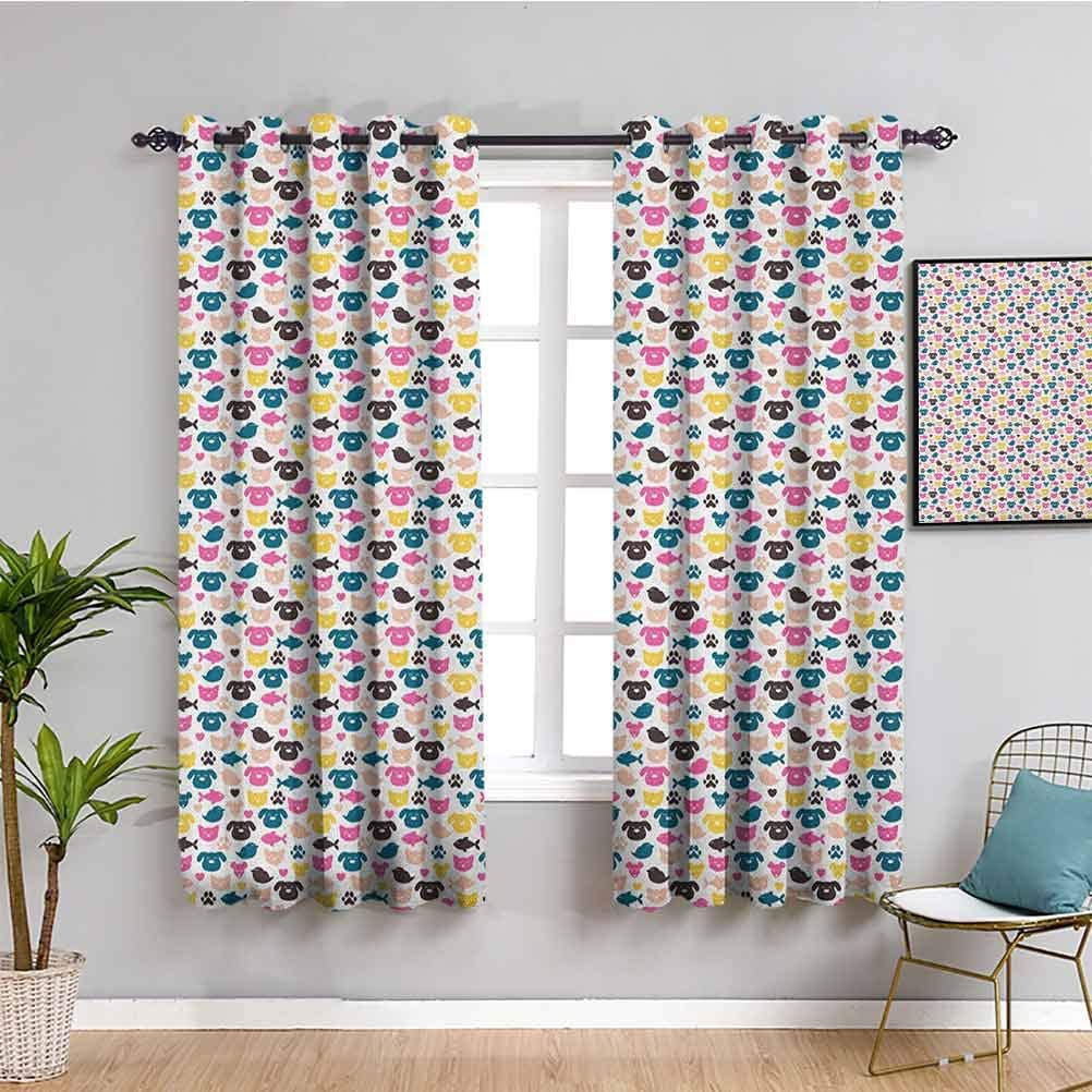 Animal Heat famous Insulation Curtain Curtains Length Cheerful inch OFFicial mail order 72