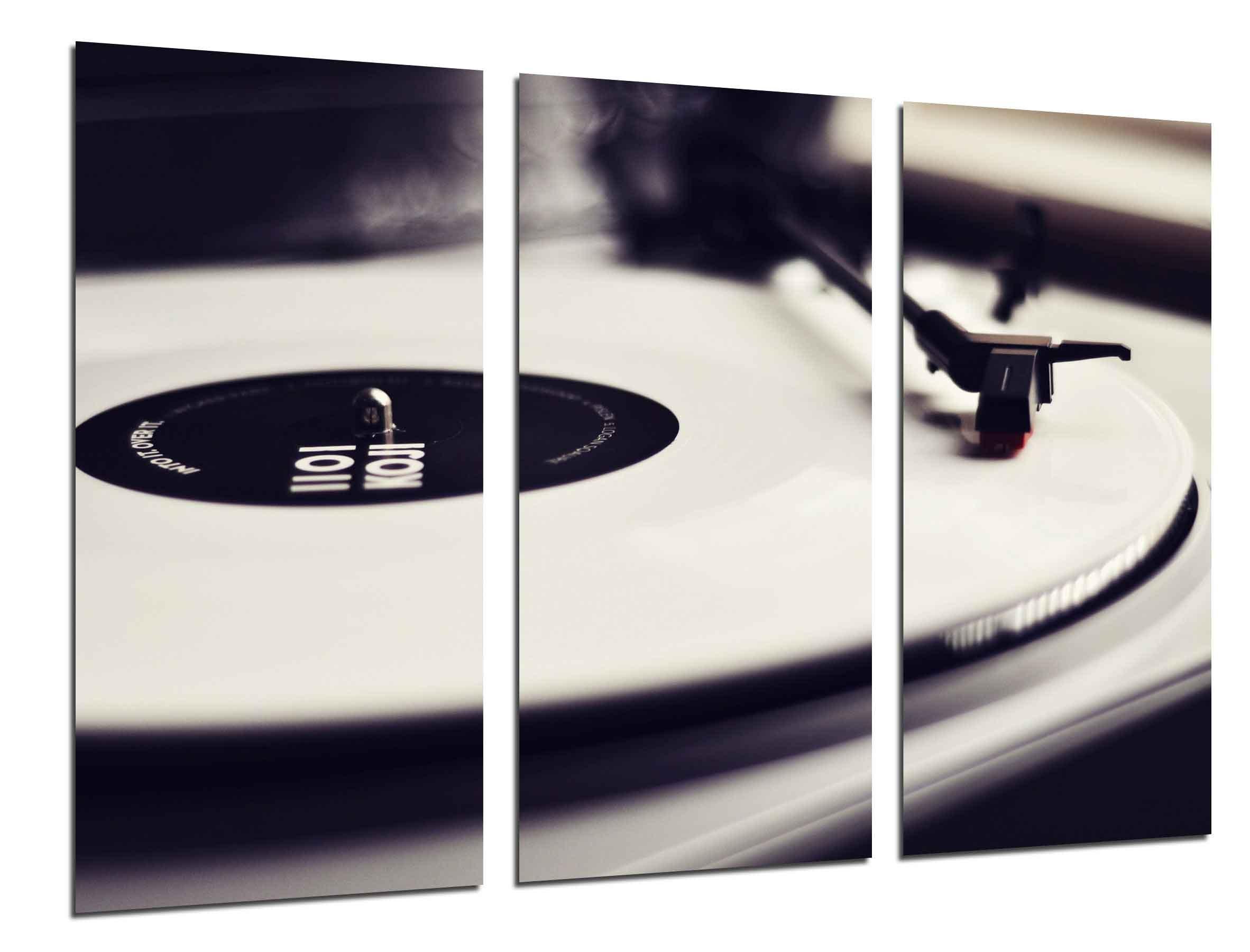 Cuadro Fotográfico Tocadiscos Vintage, Discos de Vinilo, Musica ...