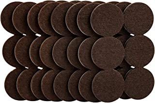 softtouch 4758595N Heavy Duty 1-1/2 Inch Felt Furniture Pads to Protect Hardwood Floors from Scratches, Brown, 48 Piece