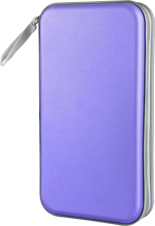 Siveit 80 Capacity Heavy Duty CD/DVD Wallet Binder, Storage, Case, Bag, Holder, Booklet (Lavender)