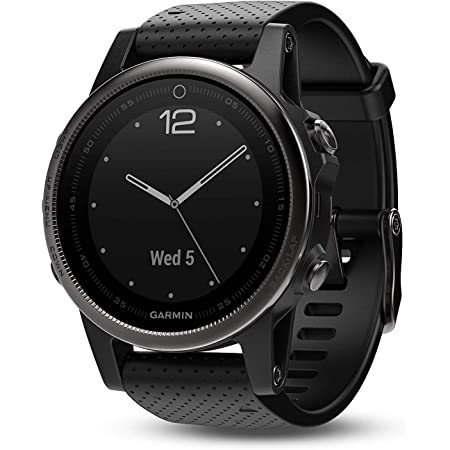 Garmin fēnix 5s, Premium and Rugged Smaller-Sized Multisport GPS Smartwatch, Silver/Black