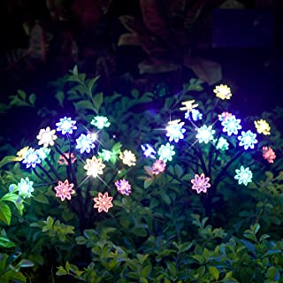 TONULAX Solar Garden Lights - Newest Solar Powered Landscape Tree Lights with Larger Solar Capacity, Solar Decorative Lights Outdoor for Pathway, Patio, Front Yard Decoration(2 Pack)