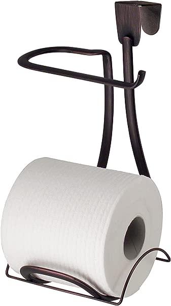 IDesign Axis Metal Toilet Paper Holder Over The Tank Tissue Organizer For Bathroom Storage 6 X 6 2 X 11 Bronze