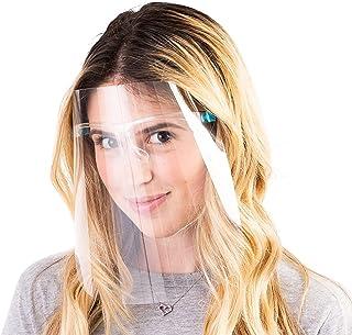 10Pack Unisex Reusable Glasses Visor, Transparent Anti-Fog Comfortable Layer for Men Women