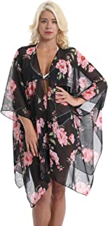 Cover Ups Floral Kimono Wraps for Girls Women Bikini Cardigan Loose Beach