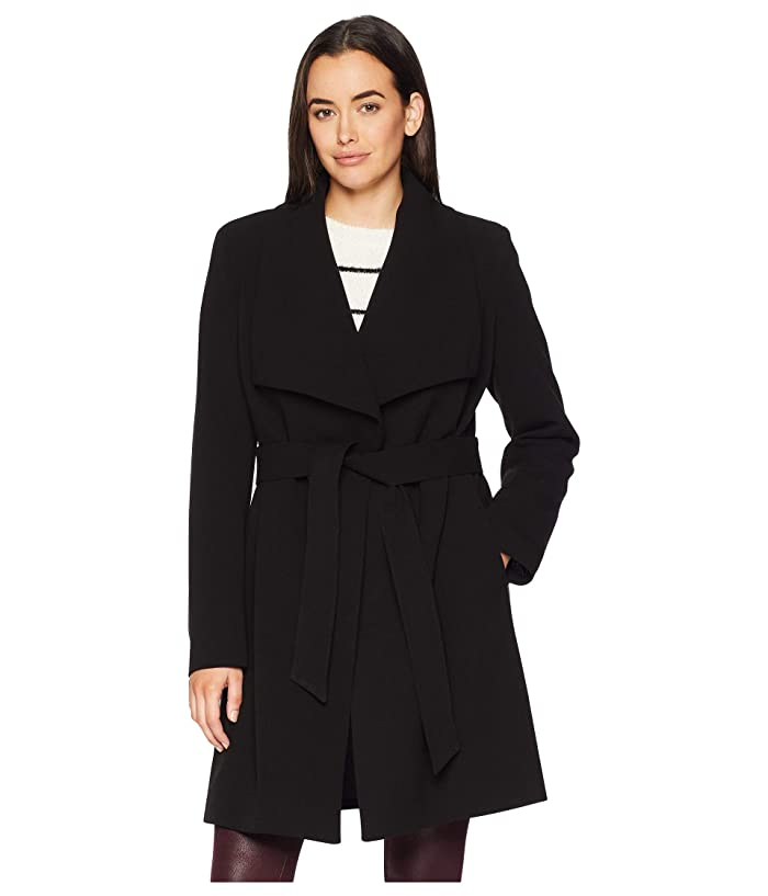 LAUREN Ralph Lauren Belted Crepe Wrap (Black) Women