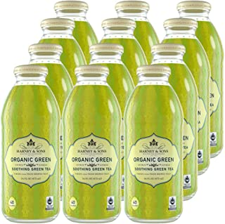 Harney & Sons Organic Green Iced Tea with Citrus & Ginkgo, Certified Organic and Fair Trade (70026), 16 Fl Oz (Pack of 12)