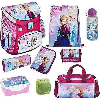 SET 9TLG DIE EISKÖNIGIN Disney Frozen SCHULRANZEN rucksack TURNBEUTEL Federmappe