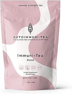 Autoimmune Tea Immune Support Tea: Autoimmune Protocol blend for Autoimmune Diet; autoimmune paleo and AIP diet herbal tea