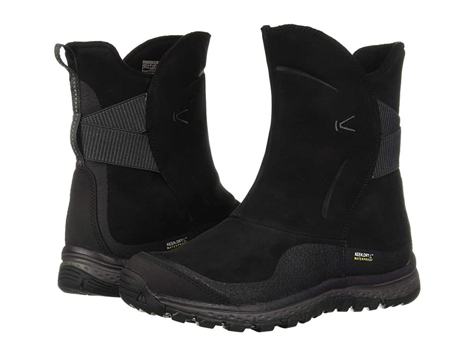 Keen Winterterra Leather WP Boot (Black/Raven) Women's Shoes