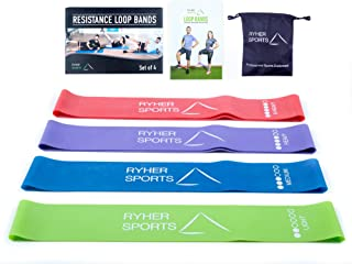 Ryher Resistance Bands - Set of Resistance Bands for Legs and Glutes - Exercise Bands for Stretching, Physical Therapy, Crossfit and Fitness – Home and Gym Equipment
