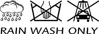 Aufkleber 'Rain Wash Only', 190 x 70 mm ~~~~~ schneller Versand innerhalb 24 Stunden ~~~~~
