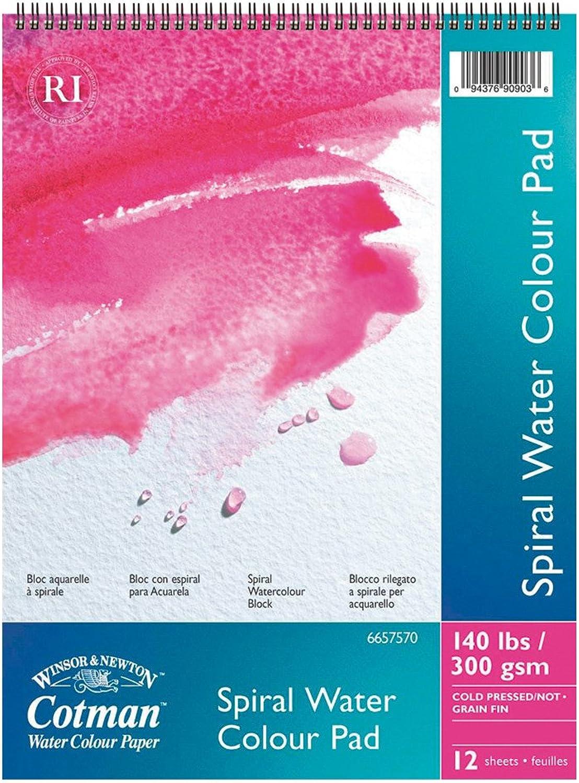 Winsor & Newton Cotman Aquarellpapier, Spiralblock, 12 Blatt, 300g m², 40 x 50 cm B004R8ENA4    | Online-Exportgeschäft