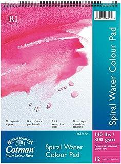 Winsor & Newton Cotman Aquarellpapier, Spiralblock, 12 Blatt, 300g m², 40 x 50 cm B004R8ENA4  Vielfalt