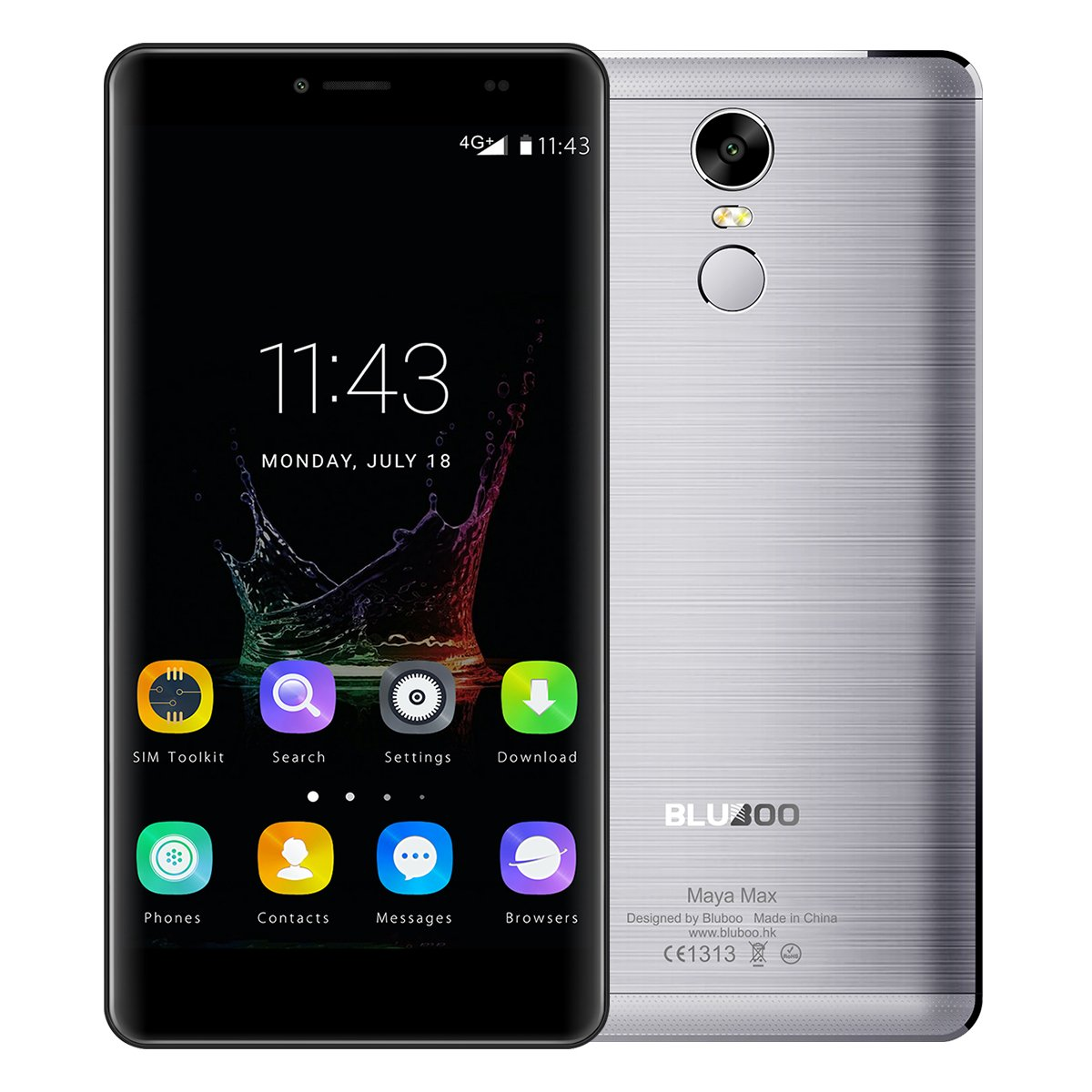 BLUBOO® Maya MAX 4G Smartphone Android 6.0 6.0 Inch HD MTK6750 ...