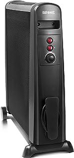 ZP-Heater Radiador eléctrico, Calefactor de Vidrio, Convector, 2000 W, Mando Distancia, 2 Niveles Calor, Modo Eco, Emisor térmico