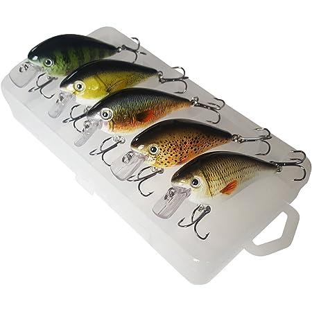 Floating Crankbaits Lockt 2g 30mm f/ür Mini Wobbler Swimbaits Kunststoff 3D Augen Topwater ABS Harte K/öder 5pcs Pack Color : 3cm1.5g E LMEIQUN