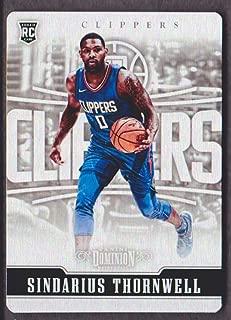 2017-18 Panini Dominion Basketball #123 Sindarius Thornwell METAL RC 078/199 Los Angeles Clippers