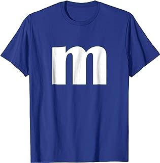 Letter M T-shirt Lower Case m Alphabet