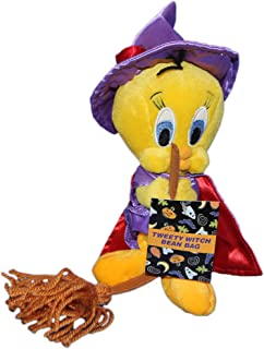 "Warner Bros Studio Store 8"" Plush Tweety Bird Witch Bean Bag Doll"