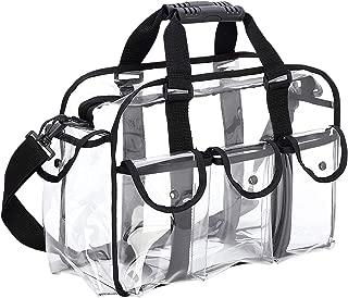 TOOGOO Clear Travel Makeup Bag Shoulder Strap Adjustable for Women Men, Travel, Beach