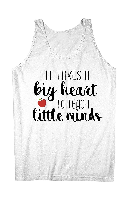 It Takes A Big Heart To Teach Little Minds Teacher 男性用 Tank Top Sleeveless Shirt