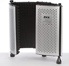 LyxPro VRI-10 Vocal Sound Absorbing Shield For Studio Home And Office Recording Acoustic Isolation Microphone Foam Panel Shield – Portable And Adjustable Stand Mount or Desktop Use