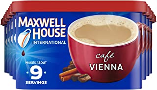 Maxwell House International Vienna Café-Style Instant Coffee Beverage Mix (8 ct Pack, 9 oz Canister)
