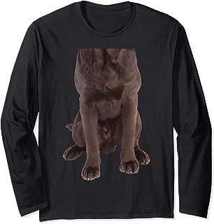 Brown Labrador Retriever Chocolate Lab Funny Dog Costume Long Sleeve T-Shirt