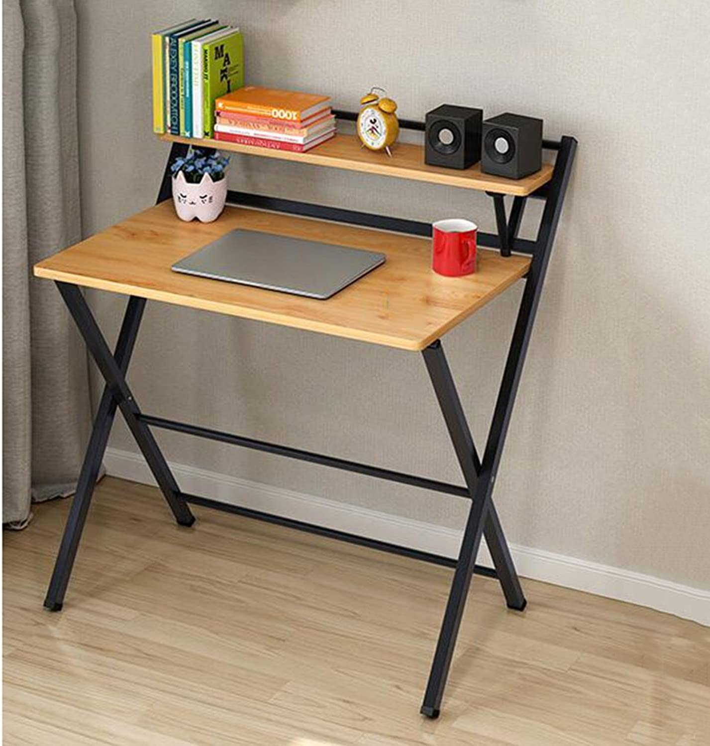 TY BEI Desktop Folding Computer Desk Computer Desk Simple Folding Table Study Table Book Table Simple Home Desktop Computer Desk Small Table Solid Wood Tables Optional color   (color   White)