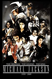 VVWV Mj Michael Jackson Last Dance Wall Posters for Boys Girls (Vinyl, 9 x 14 Inches, Multicolour)