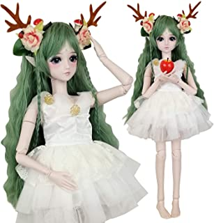 EVA BJD Green Deer 1/3 BJD Doll Spirit Demon Girl 24inch 60cm 19 Ball Jointed Dolls Baby Doll Toy Gift