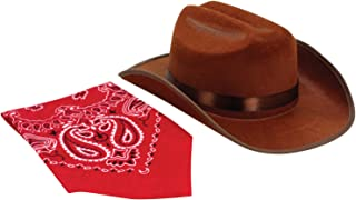 Aeromax Junior Cowboy Hat with Bandanna, Brown