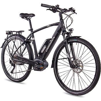 Chrisson E-Bike Pedelec E-Actourus 2019 - Bicicleta de trekking para hombre con 10G Deore Bosch PL, color negro mate: Amazon.es: Deportes y aire libre
