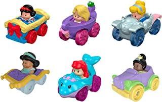 Fisher-Price Little People Disney Princess, Wheelies Set de regalo (6 unidades) [Exclusivo de Amazon]