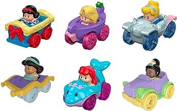 Fisher-Price Little People Disney Princess, Wheelies Gift Set (6 Pack) [Amazon Exclusive]