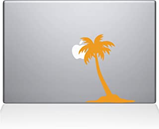 "The Decal Guru Palm Tree Decal Vinyl Sticker, 13"" MacBook Pro (2015 & Older Models), Yellow (2304-MAC-13P-SY)"