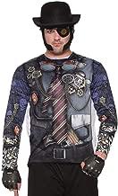 Forum Novelties Adult's Mens Futuristic Steampunk Gentleman Printed Costume Sublimation Shirt