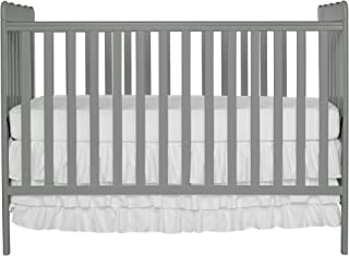 Dream On Me Carson Classic 3 in 1 Convertible Crib, Steel Grey