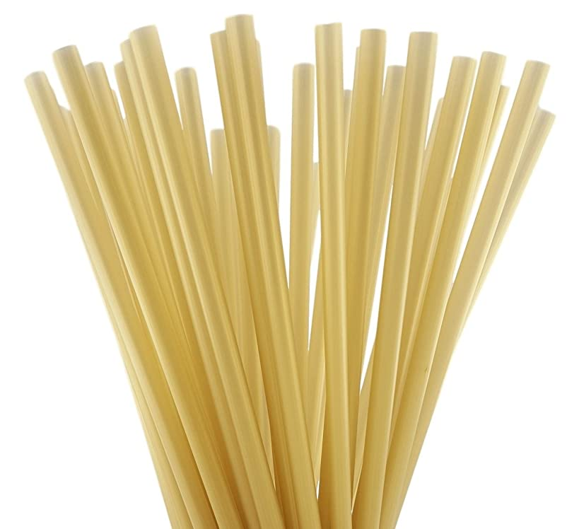 BAR-TY TIME! (250 Count) 7.75 Inch BPA-Free Plastic Drinking Straws (GOLD)